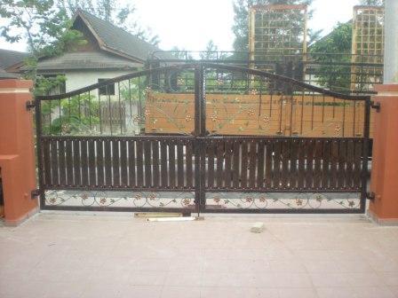Pintu pagar sliding daun lalang 9.8 Pintu pagar sliding kecil